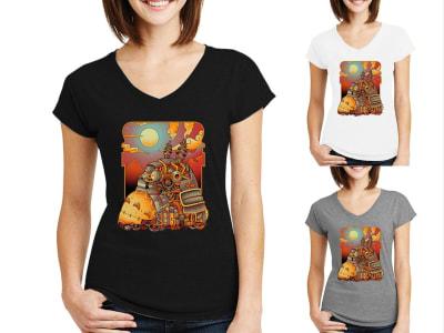 Camiseta Mujer Steampunk vecino mecánico