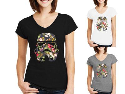 Camiseta Mujer Star War Stormtrooper Multicolor