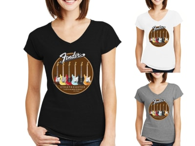 Camiseta Mujer Stratocaster Collection Rocknroll