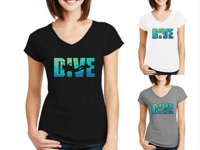Camiseta Mujer Dive