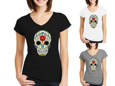 Camiseta Mujer Día de los Muertos Calavera Mexicana