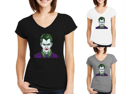 Camiseta Mujer Jocker Escuadrón Suicida