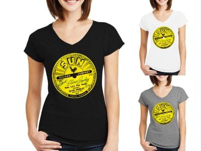 Camiseta Mujer Sun Record Elvis Presley