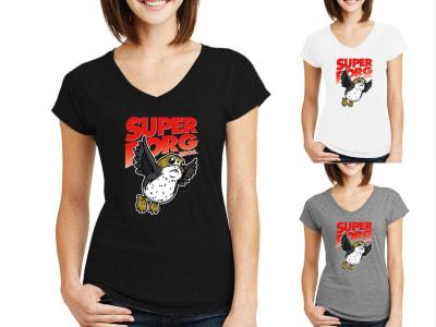 Camiseta Mujer Super Porg Bros