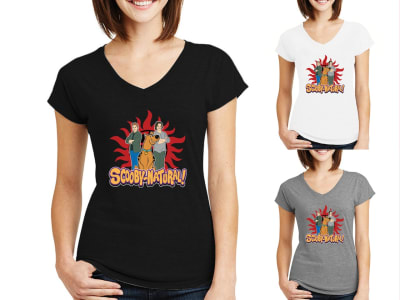 Camiseta Mujer Scooby - Natural