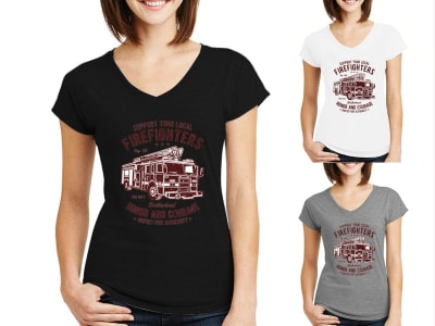 Camiseta Mujer Firefighters