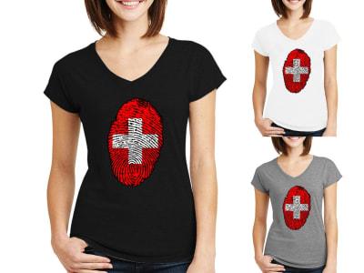 Camiseta Mujer Huella Suiza