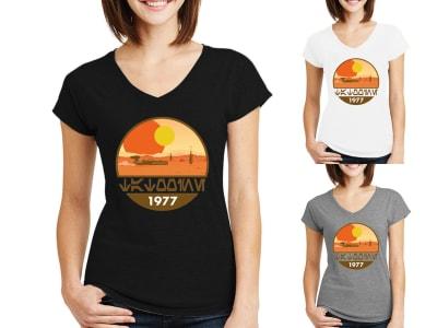 Camiseta Mujer Star War Soles de Tatooine