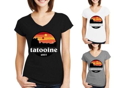 Camiseta Mujer Star War Tatooine