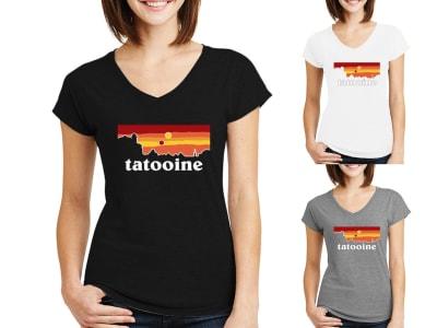 Camiseta Mujer Tatooine Dark Colors
