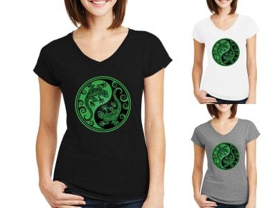 Camiseta Mujer Yin Yang
