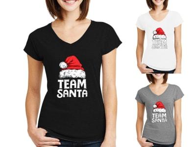 Camiseta Mujer Team Santa