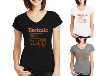 Camiseta Mujer Technics DJ beats