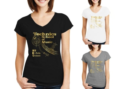 Camiseta Mujer Technics School Of Music