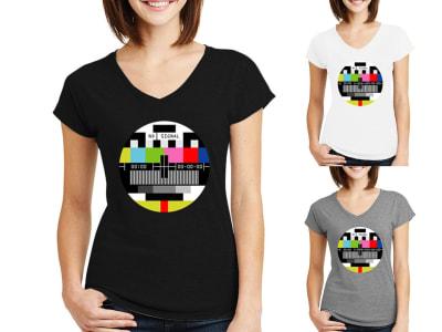 Camiseta Mujer Television no Signal