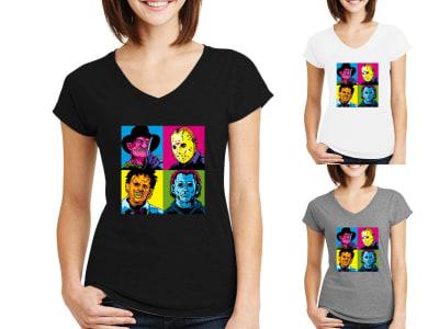 Camiseta Mujer Horror Movie