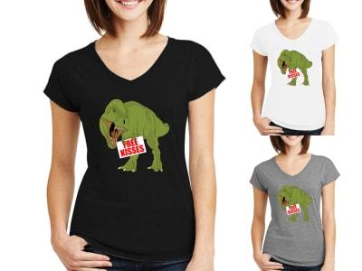 Camiseta Mujer Free kisses dinosaur