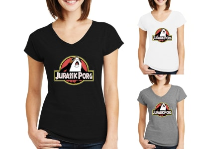Camiseta Mujer Jurassic Porg