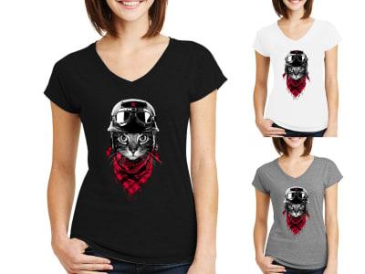 Camiseta Mujer The Adventurer Cat