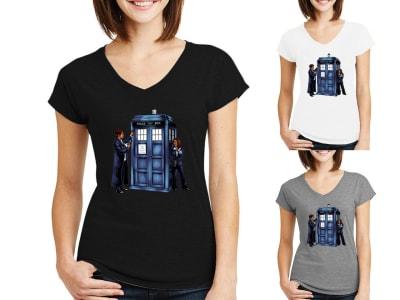 Camiseta Mujer Phone Box X Files