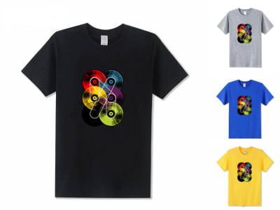 Camiseta Unisex Discos Vinilo