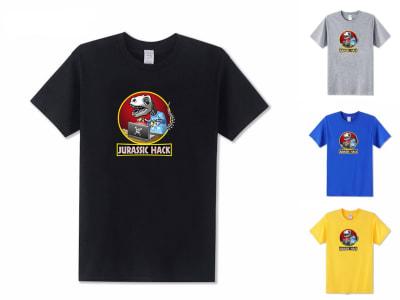 Camiseta Unisex Jurassic Hack