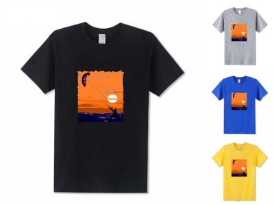 Camiseta Unisex Kite Surf Sunrise