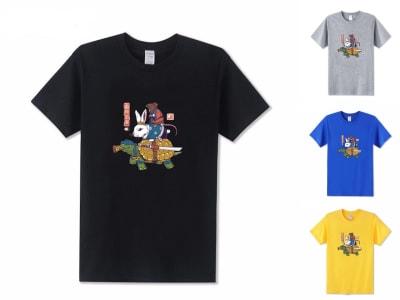 Camiseta Unisex Kame, Usagi y Ratto Ninjas