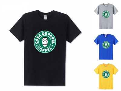 Camiseta Unisex La Casa de Papel Café