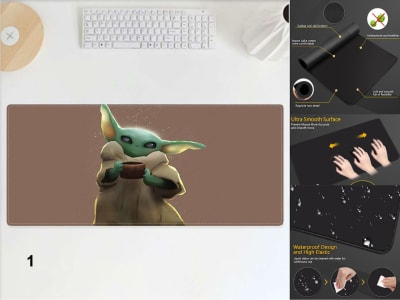 Game Pad XXL Profesional e-Sport Star War Baby Yoda