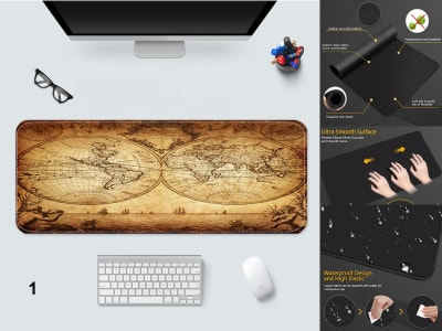 Game Pad XXL Profesional e-Sport Old World Map