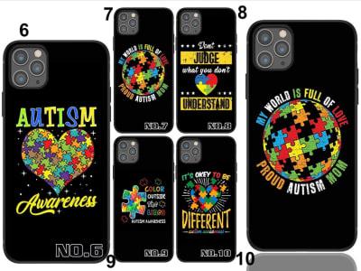 Funda iPhone TPU Rompecabezas de concienciación sobre el autismo
