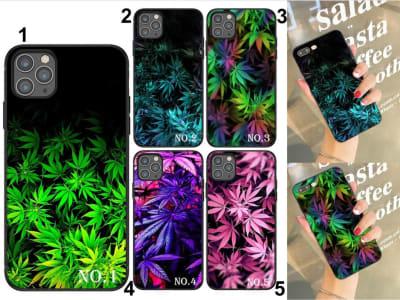 Funda iPhone TPU Marihuana