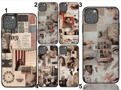 Funda iPhone TPU Estéticca Vintage