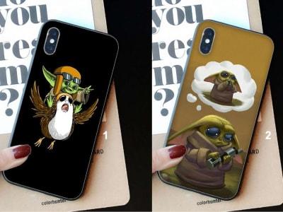 Funda iPhone TPU Baby Yoda