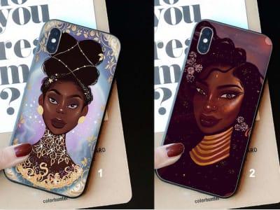 Funda iPhone TPU Mujer Negra