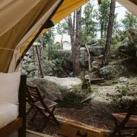Safari Tent with Four Twins
