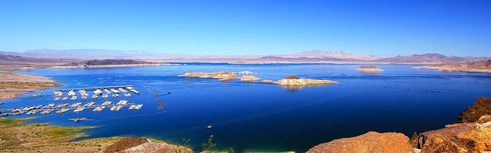 Aerial photo over lake mead