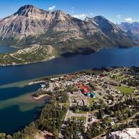 Prince of Wales Hotel Birds Eye View of Waterton