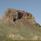 A section of the Chisos Mountains inside Big Bend Park