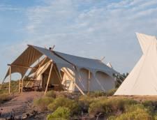 Safari Tent with Adjacent Hive