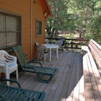 Deck with Outdoor Furniture and Grill