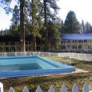 The Historic Wawona Hotel is shown here with a shot of there outdoor pool
