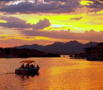 Lake Havasu at sunset