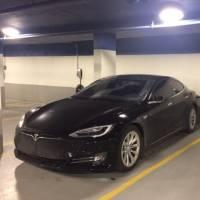Tesla Charging Stations in Underground Heated Garage