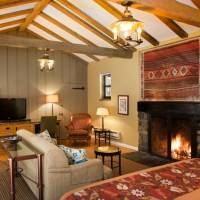 Featured Cottage Room with King Bed and Fireplace