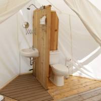 Private Bathroom in Tent