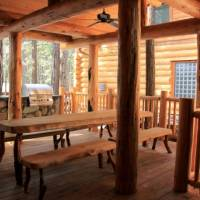Grizzly Giant - Large Covered Deck with Furniture and Grill