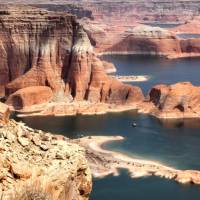 Aerial View Lake Powell and Glen Canyon