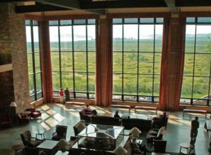 Grand Tetons from Jackson Lake Lodge